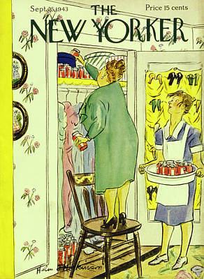 Painting - New Yorker September 25th 1943 by Helene E Hokinson