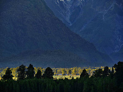 Photograph - New Zealand Alps Foothills Sunrise by Steven Ralser