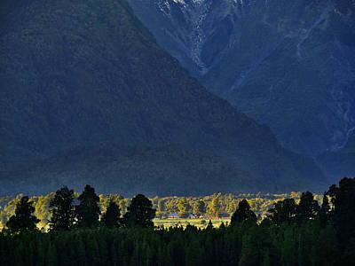 Photograph - New Zealand Alps Foothills Sunrise by Steven Ralser