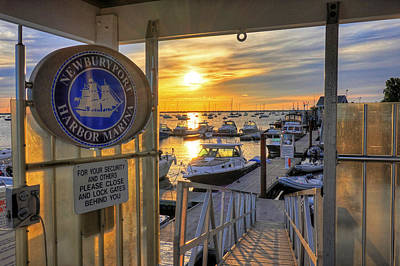 Photograph - Newburyport Marina At Sunrise Newburyport Ma by Toby McGuire