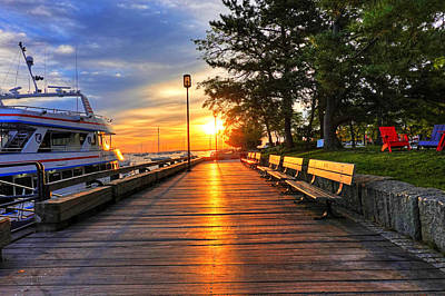 Photograph - Newburyport Waterfront At Sunrise Newburyport Ma by Toby McGuire