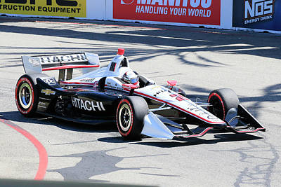 Sports Royalty-Free and Rights-Managed Images - Newgarden in Turn 3 by Shoal Hollingsworth