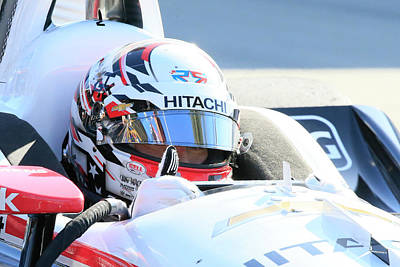 Sports Royalty-Free and Rights-Managed Images - Newgarden Thumbs Up by Shoal Hollingsworth
