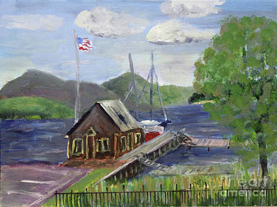 Painting - Newport Dock by Donna Walsh