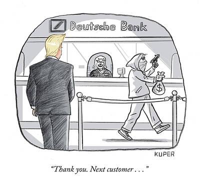 Drawing - Next Customer by Peter Kuper