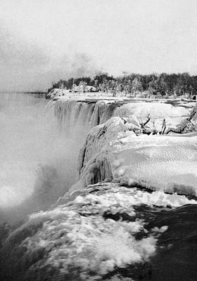 Landmarks Royalty Free Images - Niagara Falls Frozen In Winter - 1898 Royalty-Free Image by War Is Hell Store