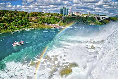 Photograph - Niagara Falls Rainbow by Lynn Bauer