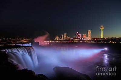 Photograph - Niagara Falls View At Night by Andriy Stefanyshyn