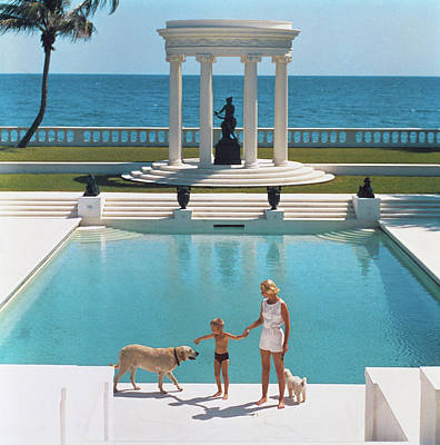Full Length Photograph - Nice Pool by Slim Aarons