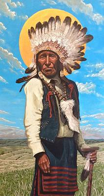 Painting - Nicholas Black Elk  by Kelly Latimore