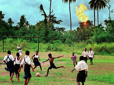 Photograph - Nigerian Oil Feature by Chris Hondros