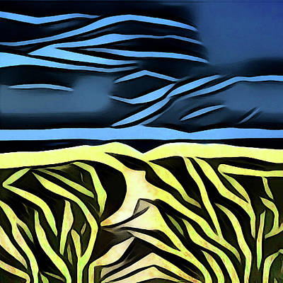Digital Art - Night At The Beach by David Hansen