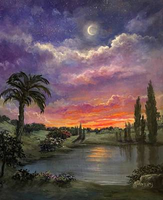 Painting - Night By Light Of Day by Randy Burns
