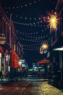 Photograph - Night Dining In The City by Ant Pruitt
