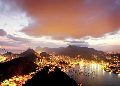 Photograph - Night Falls Over Rio De Janeiro by Nikada