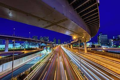 Photograph - Night Highway by Takuya Igarashi