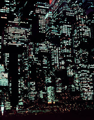 Photograph - Night Image Of Manhattan by Kim Steele