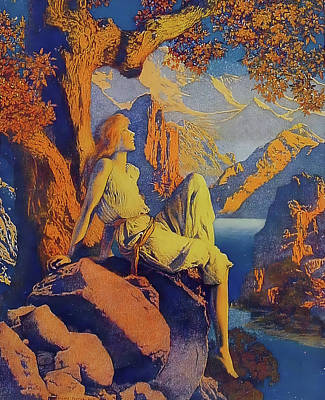 Photograph - Night Is Fled by Maxfield Parrish