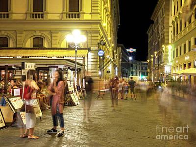 Photograph - Night Moves At Piazza Della Repubblica Florence by John Rizzuto