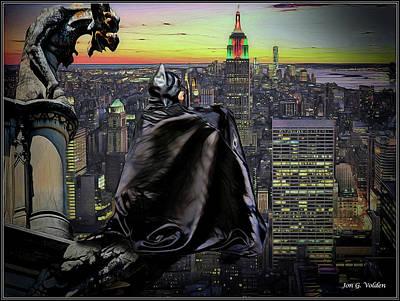 Photograph - Night Of The Bat Man by Jon Volden