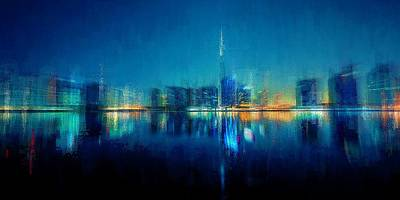 Digital Art - Night Of The City by David Manlove