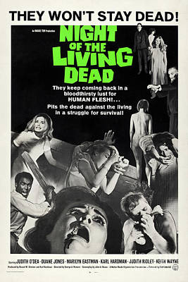 Science Fiction Royalty-Free and Rights-Managed Images - Night of the living dead movie poster by Restored archives