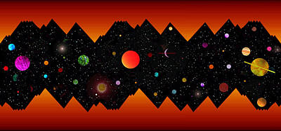 Science Fiction Mixed Media - Night of the mountain Gods by David Lee Thompson