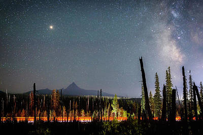 Photograph - Night On Santiam Pass by Cat Connor