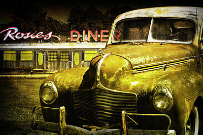 Photograph - Night Out At Rosie's Diner by Randall Nyhof