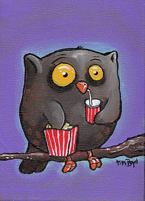 Painting - Night Owl by Tim Boyd