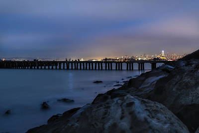 Photograph - Night Pier- by JD Mims