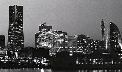 Photograph - Night Scene Of Yokohama by Snap Shooter Jp