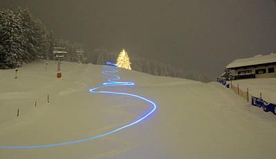 Photograph - Night Skiing by Mike Meysner Photography