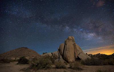 Photograph - Night Sky At Joshua Tree National Park by Chrisp0