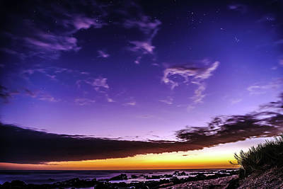 Photograph - Night Sky Colors by John Bauer