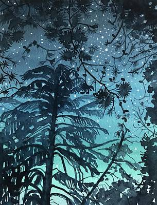 Water Droplets Sharon Johnstone -  Night Sky Lake Vista by Luisa Millicent