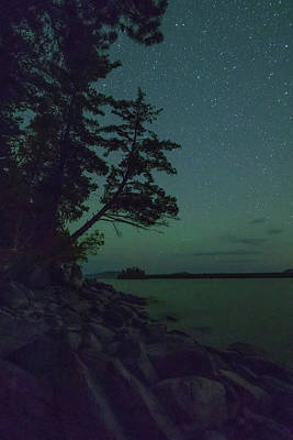 Photograph - Night Sky On Moosehead Lake by Dan Sproul