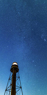 Photograph - Night Sky Over Sanibel Lighthouse by Stefan Mazzola