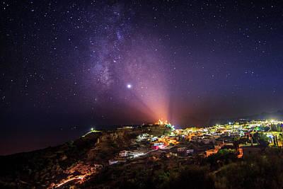Photograph - Night Sky Over Sellia, Crete, Greece by Joe Daniel Price