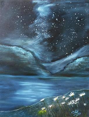 Spot Of Tea Royalty Free Images - Night Sky Starlight Royalty-Free Image by Judy Jones