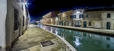 Bringing The Outdoors In - Night View Of The Streets And Canals by Vivida Photo PC