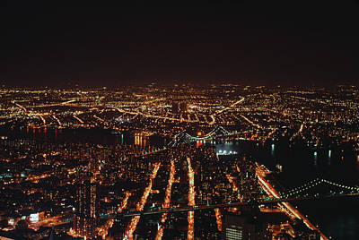 Photograph - Nighttime New York by Alfred Gescheidt