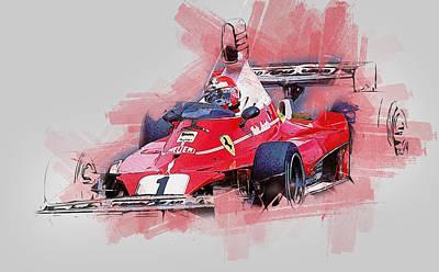 Painting - Niki Lauda - 11 by Andrea Mazzocchetti