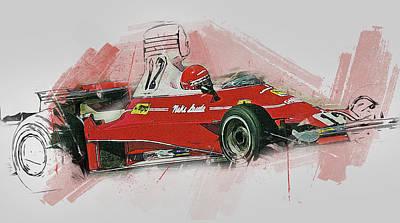 Painting - Niki Lauda - 13 by Andrea Mazzocchetti