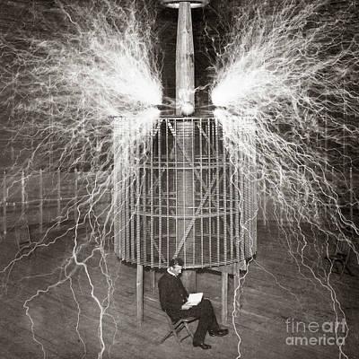 Wild And Wacky Portraits Rights Managed Images - Nikola Tesla Royalty-Free Image by Valentina Hramov