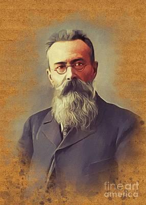 Music Paintings - Nikolay Rimsky Korsakov, Music Legend by Esoterica Art Agency