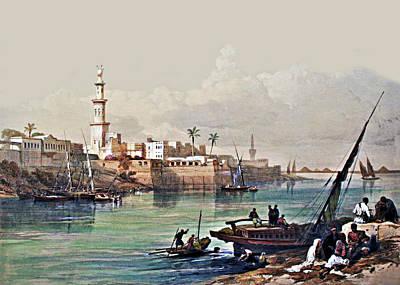 Photograph - Nile Ferry At Gizeh by Munir Alawi