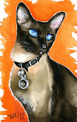 Painting - Nina Siamese Cat Painting by Dora Hathazi Mendes