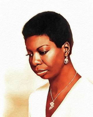 Jazz Royalty-Free and Rights-Managed Images - Nina Simone, Music Legend by John Springfield