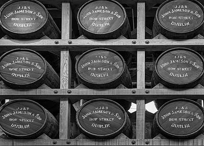 Photograph - Nine Whiskey Barrels by Georgia Fowler